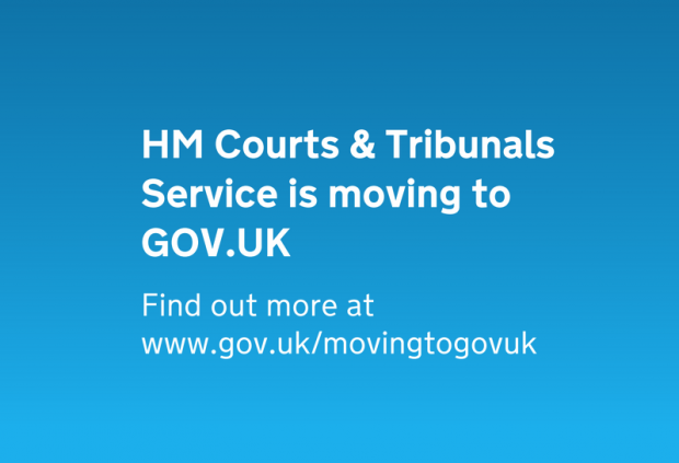 HM Courts & Tribunals Service is moving to GOV.UK poster