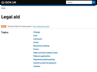 Legal aid guidance on GOV.UK