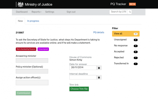 A screenshot of the new PQ Tracker