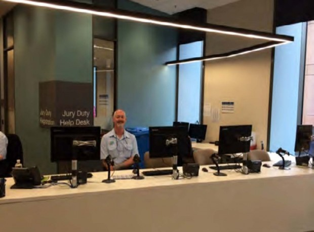 A New South Wales help desk for checking in for jury duty