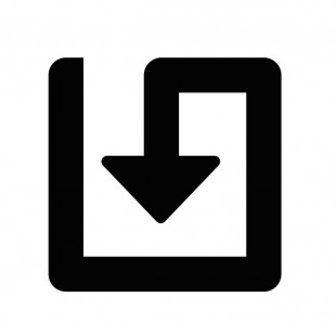 Save and return icon