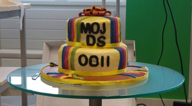 MOJ Digital birthday cake