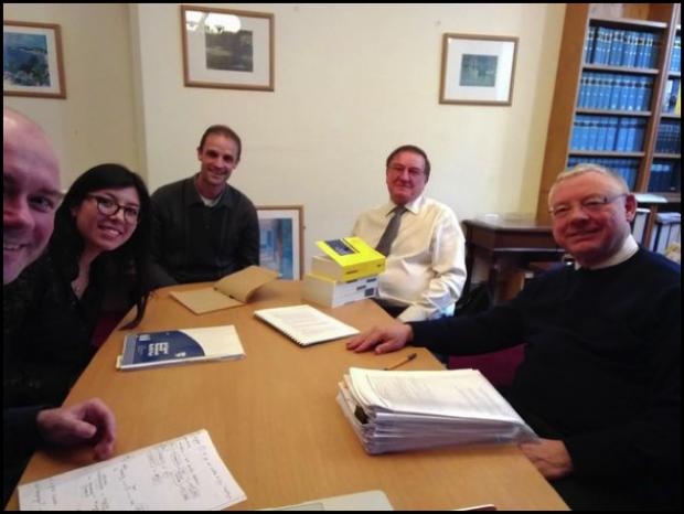 Photo of tax tribunals team meeting with tax tribunal judges