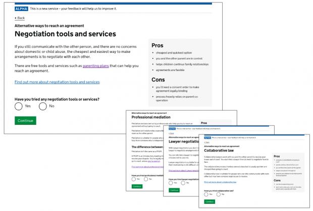 screenshot of gov.uk - negotiation tools