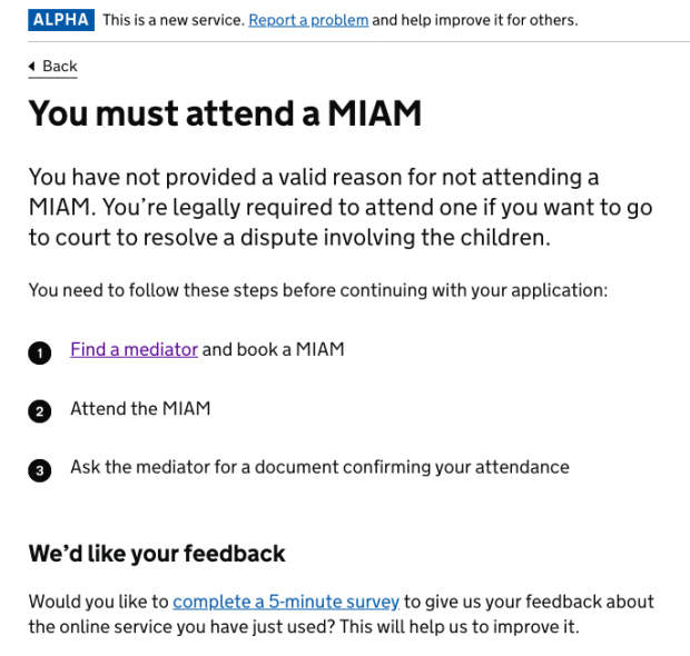 Screenshot of Attend MIAM